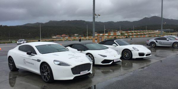 Aston Martin Rapide S, Lamborghini Huracán e Porsche 911 Turbo S ( Cabrio)
