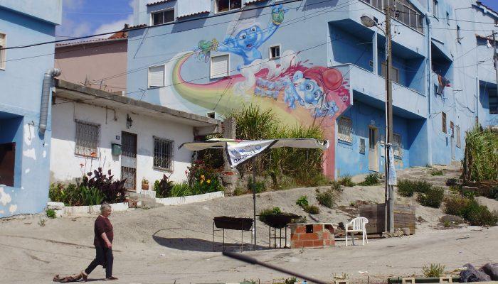 Graffiti da entrada Sul do Bairro