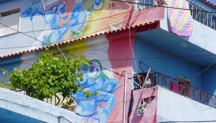 Graffiti na entrada Sul do Bairro