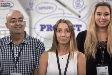 Alunas de Ciências da Comunicação na final do EDPChallenge 2018